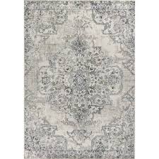 kas oriental rugs seville ivory and grey runner 2 ft 2 in x 7 ft 6 in rug