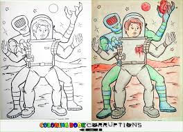 Small Picture space Coloring Book Corruptions