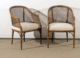 bamboo modern furniture. Mid-Century Modern Beautiful Vintage Faux Bamboo/Cane Barrel Back Chairs - 4 Available Bamboo Furniture D