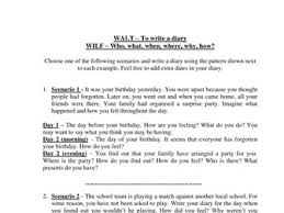 diary writing scenarios and examples by groov e chik teaching diary writing scenarios and examples by groov e chik teaching resources tes