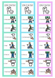 Toileting Schedule Chart Toileting Visual Schedule Reward Visual For Kids With Autism