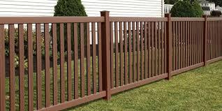 Brown Vinyl Fencing Vinyl Fencing Miller Fence Company Worcester
