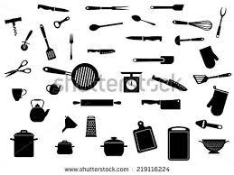 kitchen utensils silhouette vector free. Kitchen Utensil Silhouette Icons Set Isolated On White Background. For Kitchenware And Restaurant Design Utensils Vector Free