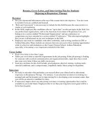 Cover Letter Free Example Experienced Respiratory Therapy Cover