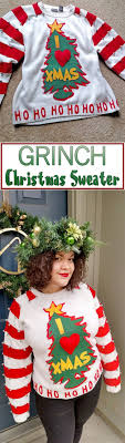 diy ugly sweaters easy diy grinch sweater no sew and easy sewing projects