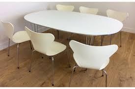 arne jacobsen furniture. Fritz Hansen Dining Table And Chairs By Arne Jacobsen Photo 1 Furniture B