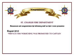 St Charles Fire Department Promotion