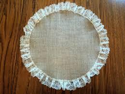 burlap and lace round table centerpiece burlap placemat rustic wedding decorations