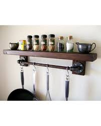 pot rack shelf. Beautiful Pot Rustic Floating Shelves Wall Shelf Wood  Spice Rack Pot Intended P