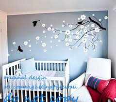 24 vinyl tree wall decals for nursery blooming cherry tree with butterflies nursery vinyl wall decal mcnettimages  on tree wall art for baby nursery with 24 vinyl tree wall decals for nursery blooming cherry tree with