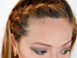 Braided Bangs Hairstyles How To French Braid Your Bangs To The Side 10 Steps