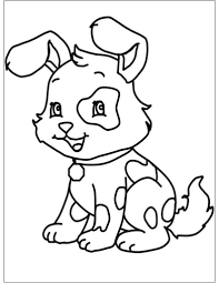 Più Adatto Per I Bambini Immagini Da Colorare Cani Disegni Da