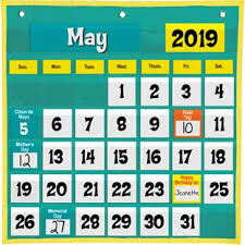 Pocket Chart Calendar Inserts Classroom Calendars