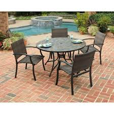 tile top dining table. Room Decorating 5 Piece Slate Tile Top Round Patio Dining Set With Ideas Table