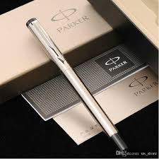 silver metal parker brand fountain pen ink with gift box for business gift writing customize engrave logo 901 gift pen with 13 18 piece on