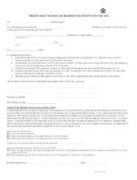 30 Day Notice Template Stunning Tenant Letter Of Intent To Vacate Juanmarinco