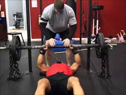Bench Press Flat Powerlifting Style Axle And Chain Bench Press Chains Bench Press