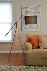 floor lamp copper pipe tripod hanging shade industrial