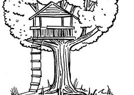 Free Coloring Pages Page House Interior Treehouse Fairy Tree