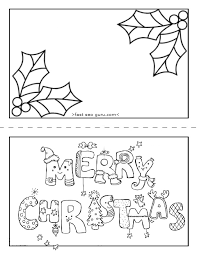 christmas card color pages printable merry christmas card coloring page for kids