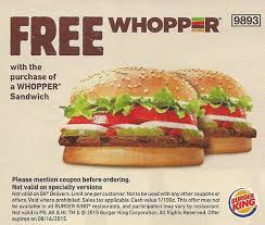 Burgerking coupons 2016