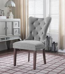 shining gray velvet dining chairs grey room tufted upholstered