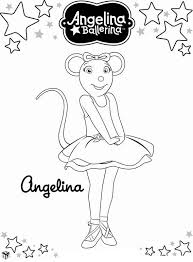 Angelina Ballerina Kleurplaat Jouwkleurplaten