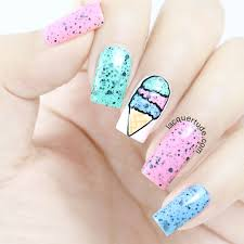 Ice Cream Nail Art Featuring Models Own Speckled Eggs: Magpie ...