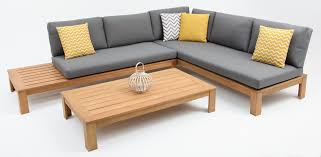 choose raymond l shaped timber lounge setting from outdoor living direct rh outdoorlivingdirect com au