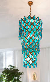 baby nursery adorable turquoise blue acrylic crystal pear drops chandelier ceiling light pendant glass chandeliers