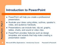 microsoft office presentations pasewark pasewark microsoft office applications introductory