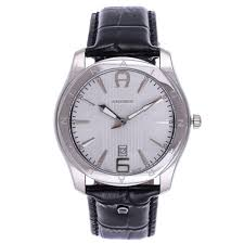 aigner lazio for men swiss made silver dial leather band watch this item is currently out of stock