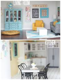 Image Miniature Furniture Craftiness Is Not Optional Diy Dollhouse Living Room And Kitchen
