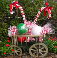 Outdoor Christmas Decorating How To Diy Outdoor Candy On The Seasonal Home Blog Christmas