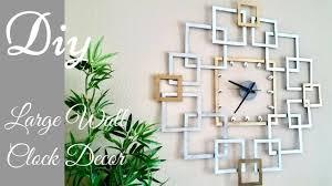 diy large wall clock decor wall decorating idea
