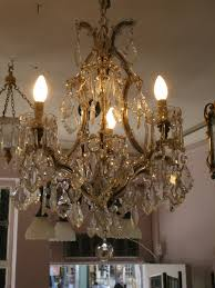 very pretty four light marie therese chandelier 1930s