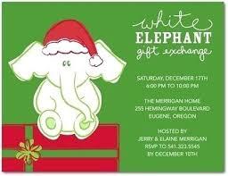 white elephant gift invitation. Wonderful Elephant White Elephant Template Party Ideas Trend Inside Christmas  Gift Exchange Invitation 715 With