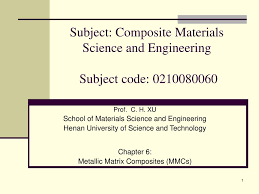Ppt On Composite Materials Ppt Subject Composite Materials Science And Engineering Subject