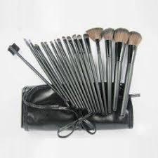 professional 18 piece makeup brush set long handle fiber brush plus carry pouch