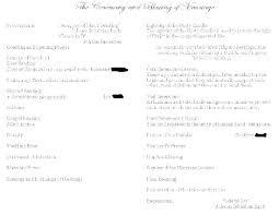 Wedding Ceremony Templates Free Wedding Ceremony Itinerary Template