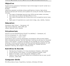 Sample Resumer High School Student Template Free Templates ...