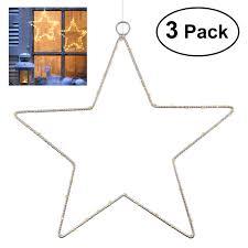 3 Stück Weihnachtsstern Beleuchtung Yunlights Fenster Stern Licht 45 Led Lichterkette Außen Wasserdicht Batterie Angetrieben Mit Timer Für Zuhause