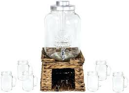 full size of 3 gallon glass beverage dispenser with stand style setter franklin drink la