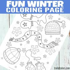 Small Picture Free Printable Winter Coloring Page for Kids Trail Of Colors