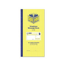 telephone message book 550 carbonless telephone message book