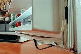 refrigerator door gasket. replace a door gasket on refrigerator. refrigerator