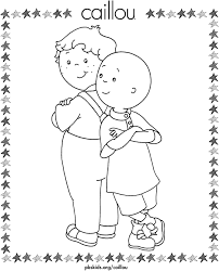 Small Picture Caillou Coloring Pages Leo and Caillou PBS KIDS