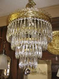 4 tier crystal brass wedding cake chandelier for