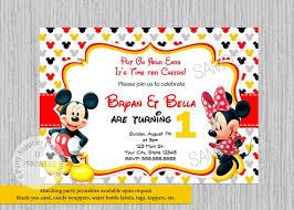 Invitaciones Fiesta Gemelos Mickey Minnie Mouse Invitaciones Invitaciones Fiesta Etsy