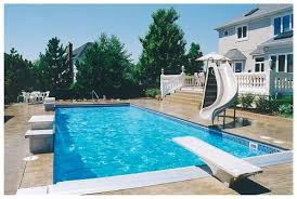swimming pools with slides and diving boards. Simple Diving Rectangle Pool With Slide And Diving Board For Swimming Pools With Slides And Diving Boards D